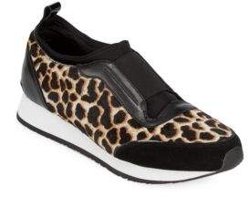 Ryley Dyed Cow Hair Slip-On Sneakers