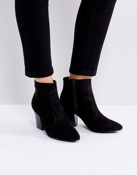 London Rebel Kitten heel Boot