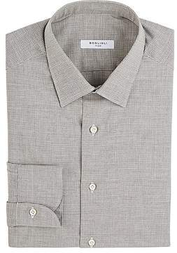 Boglioli Men's Houndstooth Cotton Dress Shirt