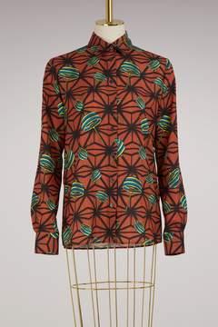 Stella Jean Spinning orange shirt