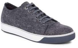 Lanvin Low-Top Felt Sneakers