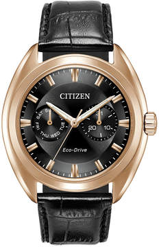 Citizen Men's Eco-Drive Dress Black Leather Strap Watch 43mm BU4013-07H