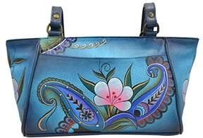 Anuschka Anna by Genuine Leather Small Tote Handbag | Hand-Painted Original Artwork |