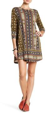 Angie Long Sleeve Printed Swing Dress