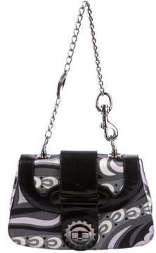 Emilio Pucci Leather-Trimmed Paisley Shoulder Bag