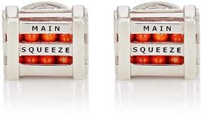 Jan Leslie Men's Crate-Of-Oranges Cufflinks