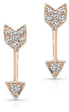 Anne Sisteron Arrow Diamond Earrings