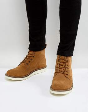 Dune Lace Up Boot In Tan Suede