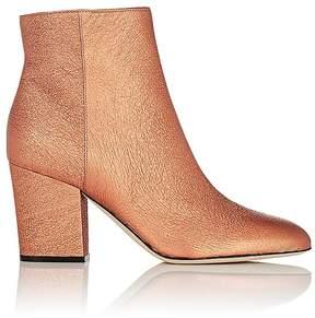 Sergio Rossi Women's Virginia Metallic Leather Ankle Boots