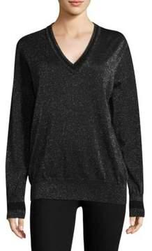 Equipment Lucinda V-Neck Lurex Sweater
