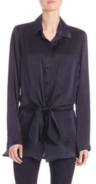 RtA Marie Tie-Front Silk Shirt