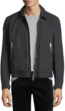 Burberry Maddison Cropped Bomber Jacket with Check Lining