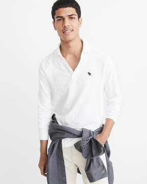 Abercrombie & Fitch Long-Sleeve Icon Polo