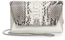 Akris Anouk Mini Python-Embossed Leather Crossbody Bag