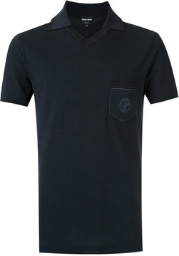 Giorgio Armani logo embroidered polo shirt