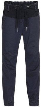 Molo Arctic Two-Tone Chambray Pants, Navy, Size 4-12
