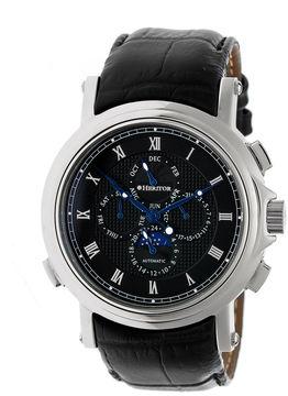 Heritor Kingsley Mens Black Strap Watch-Herhr4802