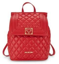 Love Moschino Quilted Convertible Backpack