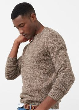 Mango Outlet Cotton wool-blend sweater