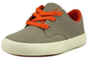 Clarks Club Samba Youth W Leather Gray Fashion Sneakers.