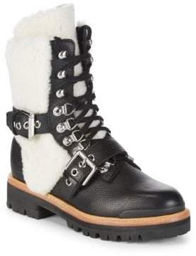 Sigerson Morrison Iris Leather Shearling Mountain Boots