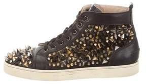 Christian Louboutin Louis Pik Pik Leather Sneakers