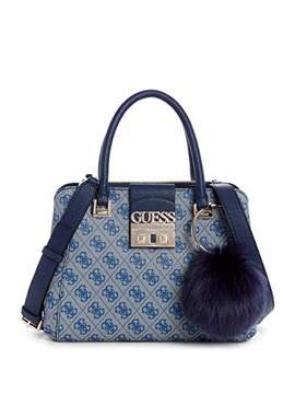 GUESS Logo Luxe Small Society Satchel