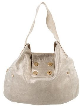 Marc Jacobs Metallic Suede Hobo - GOLD - STYLE