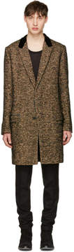 Haider Ackermann Multicolor Velvet Collar Coat