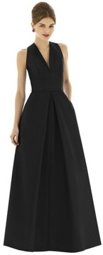 Alfred Sung Women's Dupioni A-Line Gown