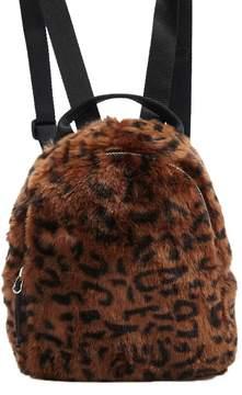 Forever 21 Faux Fur Leopard Print Backpack
