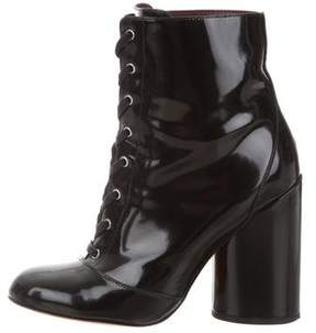Marc Jacobs Patent Leather Lace-Up Boots