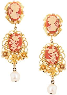 Gold Resin & Crystal Earrings