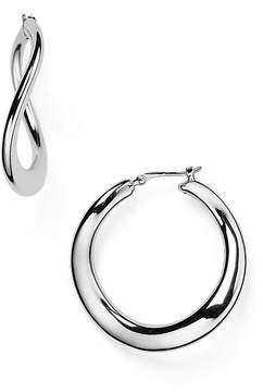 Bloomingdale's Sterling Silver Wavy Hoop Earrings - 100% Exclusive