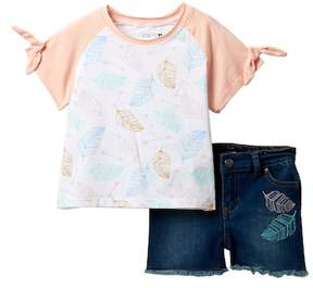 Joe's Jeans Short Sleeve Tee & Shorts 2-Piece Set (Toddler Girls)