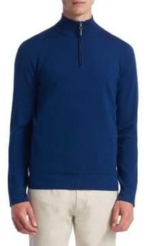 Saks Fifth Avenue COLLECTION Tech Merino Wool Quarter-Zip Sweater
