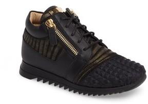 Giuseppe Zanotti Infant Girl's Iperstud Embossed Sneaker