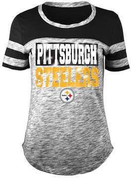 5th & Ocean Women's Pittsburgh Steelers Space Dye Foil T-Shirt