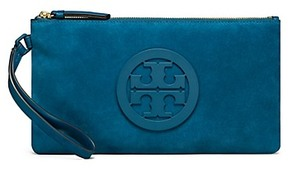 Tory Burch Charlie Suede Clutch - SYMPHONY BLUE - STYLE