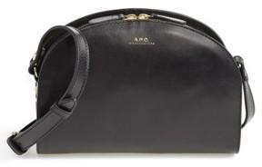 A.P.C. 'Sac Demi Lune' Leather Crossbody Bag - Black