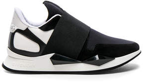 Givenchy Suede & Patent Leather Elastic Strap Sneakers