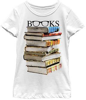 Fifth Sun White 'Books' Specs Tee - Girls