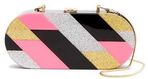 Milly Pink Geometric Oval Box Clutch