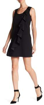 Donna Morgan Ruffle Crepe Shift Dress