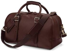 Aspinal of London Small Harrison Weekender Travel Bag In Smooth Chocolate Brown