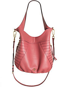 As Is orYANY Pebble Leather Hobo with Shoulder Strap - Isabella