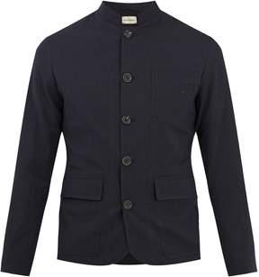 Oliver Spencer Stand-collar seersucker jacket