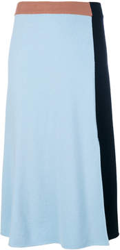 Cédric Charlier midi colour block skirt