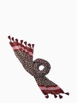 Floral tile oblong scarf