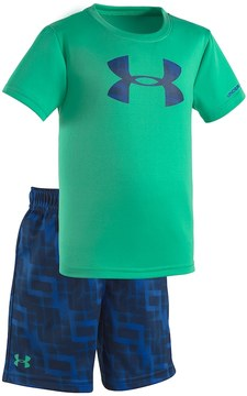 Under Armour Baby Boy Jump Box Big Logo Tee & Shorts Set